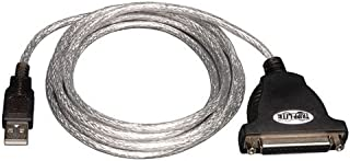 Tripp Lite Hi-Speed USB to IEEE 1284 Parallel Printer Gold Adapter Cable  (A-M to DB25 F) 6-ft.(U207-006),Silver