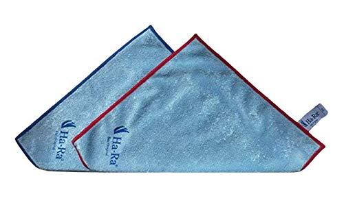 Ha-Ra SET 2 x 25x25cm mini Star Tuch rot und blau umrandet