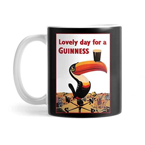 Yuanmeiju Taza Guiness Coffee Mug 11oz Ceramic Tea Cups