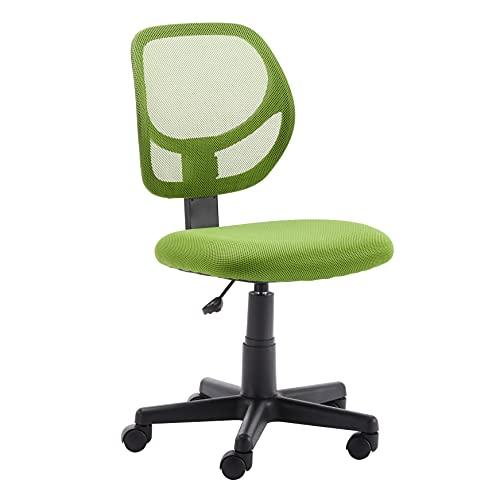 Amazon Basics Low-Back, Upholstered Mesh, Adjustable, Swivel Computer Office Desk Chair, Green
