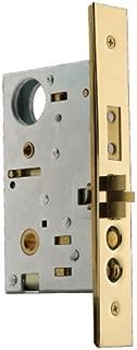 Baldwin 6320.003.L Left Handed Handleset and Knob Entrance Mortise Lock with 2-1/2-Inch Backset, Lifetime Polished Brass