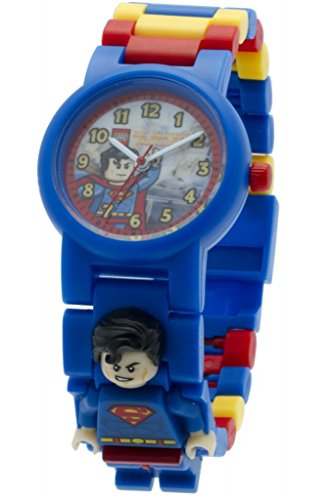 Reloj infantil modificable con figurita de Supermán de LEGO DC Comics 8020257...