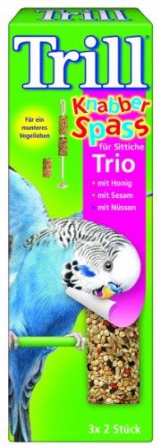 Trill Knabber Spass für Sittiche Trio mit Honig, Sesam, Nuss 6 Stk, 7er Pack (7 x 60 g)