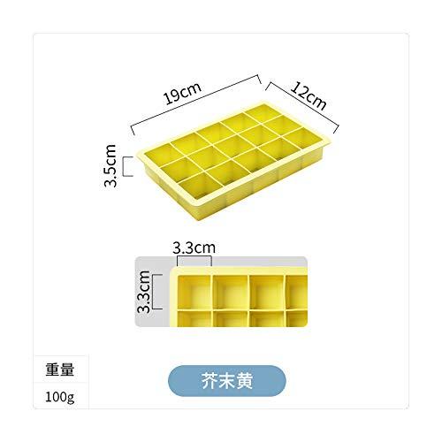 QZXCD Zomer ijsblokjes creatieve plaats silicone ijsblokjesvorm Grid 15 grote ijsblokjesbox DIY babyvoeding aanvullende doos