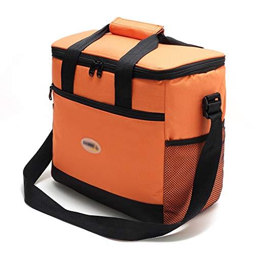 ZRJ Picnic Bolsa de Supermercado PortáTil Impermeable Grande de 16l, Bolsa de Picnic, Bolsa de Picnic para Viajes de Playa Al Aire Libre Exterior (Color : Orange)