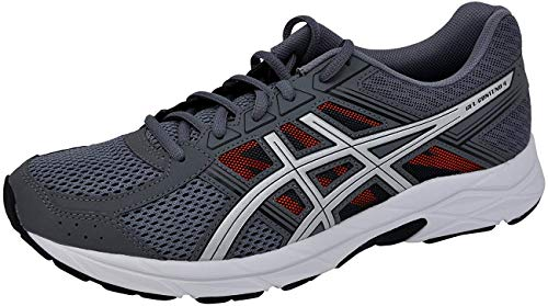 ASICS Men's Gel-Contend 4 Running Shoe Carbon/Silver/Orange, 10 D(M) US