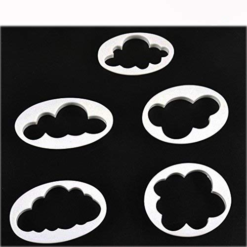 Cisixin Keks Cloud Wolken Plastik süß Fondant Kuchen Backen Plastik 5 PCS