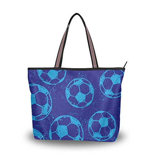 NaiiaN Bolsos deportivos de fútbol, bolsos de mano, bolsos de hombro, monedero con correa liviana, compras para mujeres, niñas, estudiantes