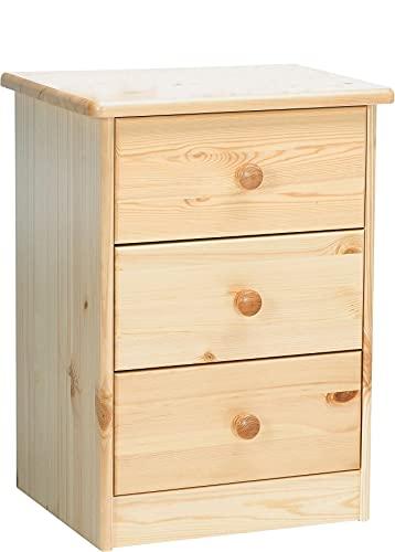 Erst-Holz® 90.20-K03 Elke Nachttisch Kiefer massiv 3 Schubläden