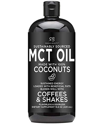 Premium MCT Oil Made only from Non-GMO Coconuts - 15.8oz. Keto, Paleo, Gluten Free and Vegan Approved.
