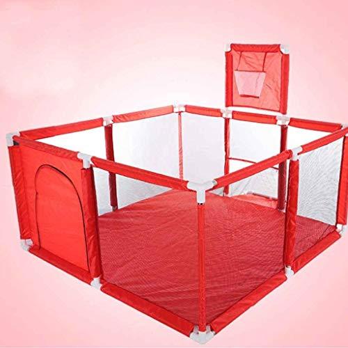 Playpen inklapbare draagbare box & box kruiprooster kinderen beschermingsrooster (kleur: rood)