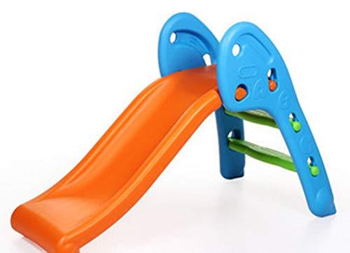 TobogáN CombinacióN Parque para Infantil NiñOs Recto Diapositiva Interior Y Aire Libre Juguetes JardíN PláStico Resistente 112x60x70cm,Blue