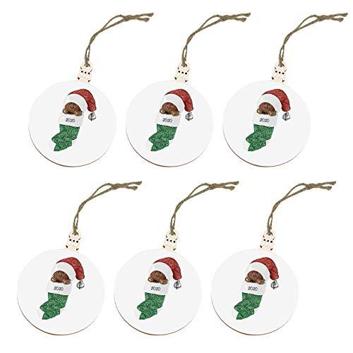 Adorno navideño 2020 Papá Noel con mascarilla Decorar árbol de Navidad Hogar y jardín Decoración del...