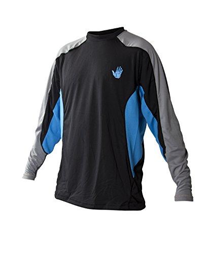 Body Glove Men's Performance Loose Fit Long Sleeve Shirt, Empire Blue/Black, Medium