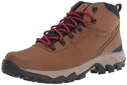 Columbia Men's Newton Ridge Plus II Waterproof Hiking Boot Shoe, Light Brown/Red Velvet, 13 Wide