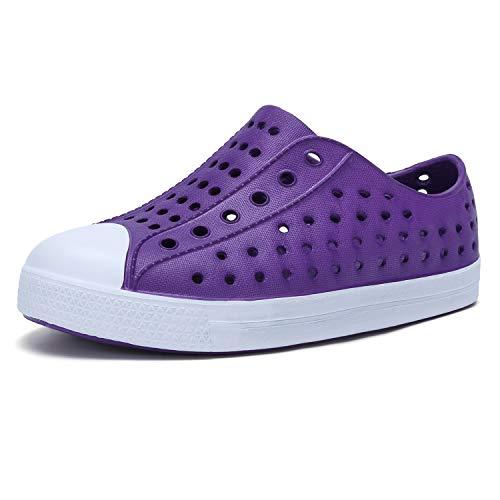 seannel Kids Water Shoes Slip-On Sneaker LightweightBreathable Sandal Outdoor & Indoor-U821STLXS001-New Purple-30
