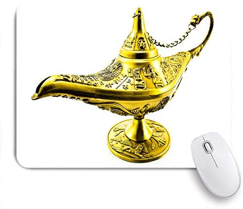 SUHOM Gaming Mouse Pad Rutschfeste Gummibasis,Aladdin Magic Genie Lampe Wish Mystery Magic Wonder Abenteuergeschichte,für Computer Laptop Office Desk,240 x 200mm