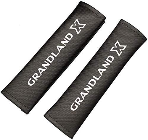 2 Piezas conCoche Logo Almohadillas Cinturón Seguridad Para Opel Grandland X, cómodas CinturóN De Seguridad Hombro Correa Auto Estilo Accesorios