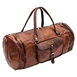 Handmade World 24' Inch Vintage Leather Bags Luggage Duffel Large Travel Carry On Air Cabin Sports Gym Bag