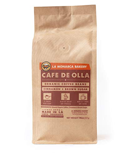 Cafe de Olla, La Monarca Bakery's Cinnamon Spiced Coffee Blend, 14 Oz
