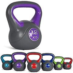 Idea Regalo - MSPORTS Kettlebell 2 – 20 kg incl. poster di esercizi kettlebell (12 kg)