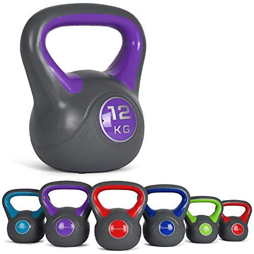 Msports, kettlebell 2 – 20 kg, con poster di esercizi