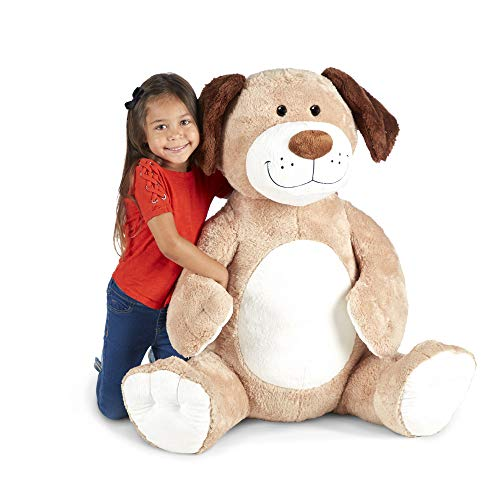 Melissa & Doug Gentle Jumbo Dog Giant Stuffed Plush Animal (Sits Nearly 3 Feet Tall)