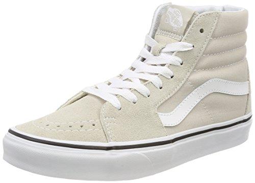 Vans Damen Sk8-Hi Hohe Sneaker, Grau (hellgrau / weiß hellgrau/weiß), 42 EU