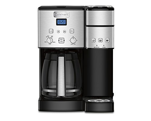 Cuisinart SS-15 Maker Coffee Center 12-Cup Coffeemaker and Single-Serve Brewer, Silver