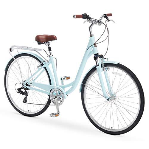 Buy Bargain A/O Jackie Women's Bicycle 7-Speed Comfort Hybrid Bike, Blue