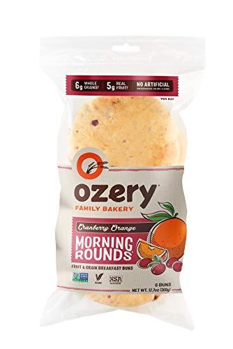 OZERY BAKERY Morning Round Pita Bread, Cranberry Orange, 12.7 Ounce (Pack of 6)