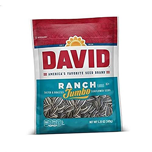 DAVID Roasted and Salted Ranch Columbus Mall Sunflower Free Shipping Cheap Bargain Gift Jumbo Seeds Keto Frien