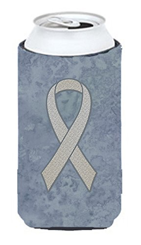Caroline's Treasures AN1210TBC Clear Ribbon for Lung Cancer Awareness Tall Boy Beverage Insulator Hugger, Tall Boy, multicolor