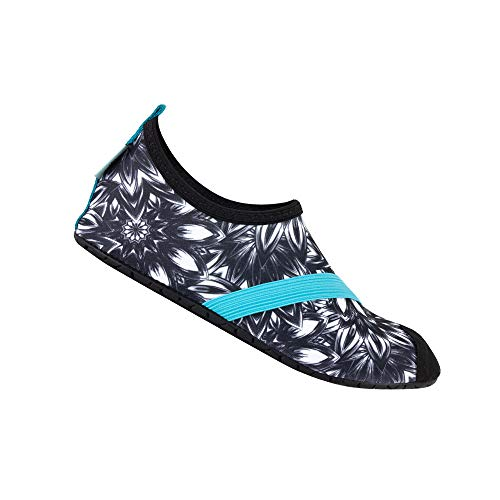 FitKicks Women s Active Lifestyle Footwear for Exercise  Yoga  Pilates  Casual Wear  Sports & Water Shoes  Midnight Maui  Large