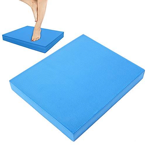 Weikeya Alfombra de Yoga Adecuada, Equipo de Fitness de Almohada de alforfón Azul 33 x 40 x 5 cm TPE Respetuoso con el Medio Ambiente Hecho