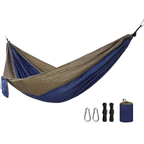 Hamacs, Meubles de Camping Double Convient pour Plusieurs scénarios Extérieur Portable et Confortable Charge Anti-retournement 200 kg (Couleur: Cendre Plus Orange, Taille: 290 * 140cm) Confortable