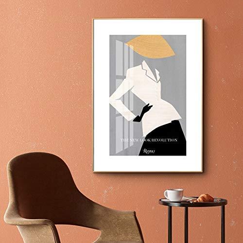 wojinbao Senza Telaio Moderna Figura di Moda Modello su Tela NG Make up Wall Art Pictures Pop Poster e Stampa per Soggiorno Decorazioni per la casa