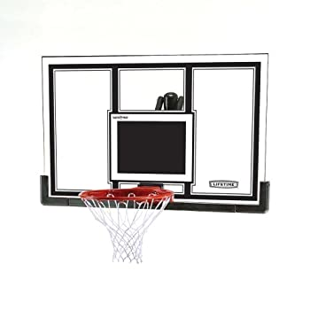Lifetime 71526 Backboard and Rim Competition Combo Black/Orng 54-Inch