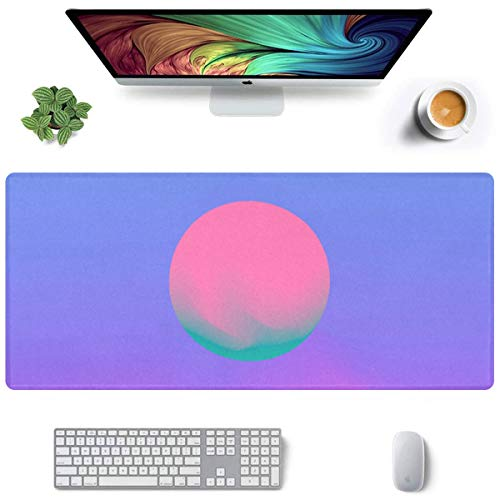 35x16 Inch Laptop Gaming Mat Cosmic Vaporwave Synthwave Retrowave Game Mat for Laptop Non-Slip Rubber Mousepad Extended with Funny Art Design Laptop Gaming Mouse Pad for Laptop Working Or Game