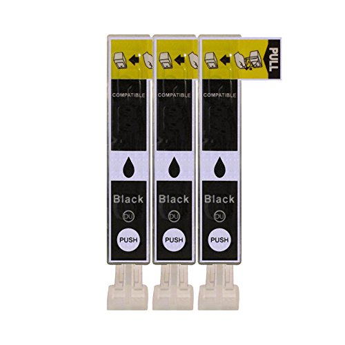 3 Druckerpatronen im Set; kompatibel zu CLI-521BK Fotoschwarz mit CHIP und Füllstandanzeige; Patronen der Marke D&C; diese Tintenpatronen sind geeignet für folgende Canon Drucker Pixma IP3600 IP4600 IP4600X IP4700 MP540 MP550 MP560 MP620 MP630 MP640 MP640R MP980 MP990 MX860 MX870