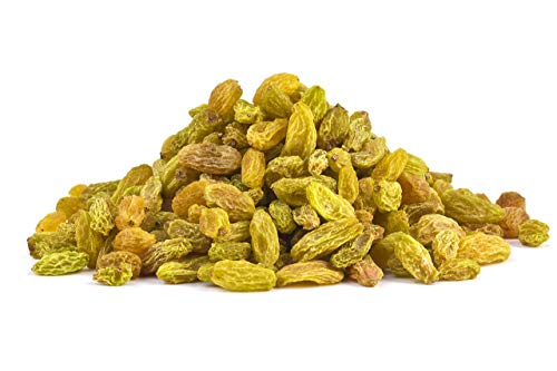 Bio grüne Khorog Rosinen 1 kg Fairtrade schattengetrocknet, ungeölt und ungesüßt, aus Usbekistan 1000g, dunkeln nach.