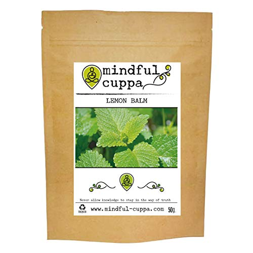 Lemon Balm Loose Leaf Tea   Mindful Cuppa   Premium Quality   100% Natural (50g)