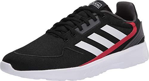 adidas Men's Nebzed Parley Primeblue Cloudfoam Regular Fit Running Sneakers Shoes, core Black/ftwr White/Grey Six, 8.5 M US