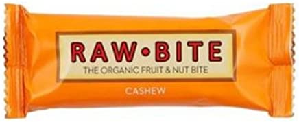 Rawbite Cashew Organic Gluten Free Fruit and Nut Bite, 50g