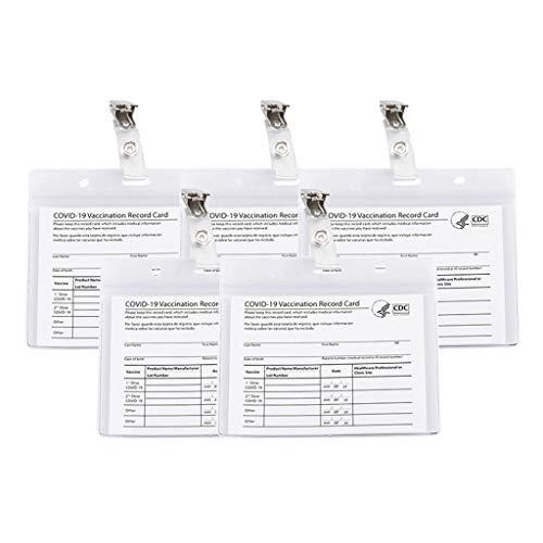 KunmniZ Transparente Pass Record Tarjeta Titular 4x3 pulgadas Record Lanyards Tarjeta Protector Ahorrar Espacio Decoración Hogar Almacenamiento Gestión Accesorios