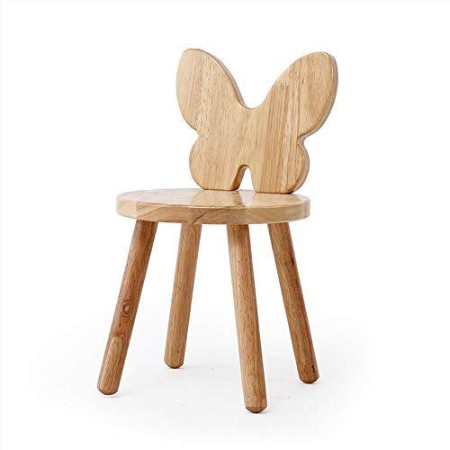 Taburete de madera Taburete moderno y pequeño asiento redondo Otomanas Tela de madera Puerta mesa de centro Silla pequeña Sala de estar Mesa lado muebles para niños (Size : A)