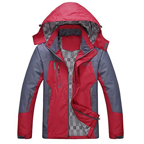 ZWLXY Herren Bergwasserdichte Fleece Ski-Jacke Windundurchlässiges Regen Jacke,c,XL