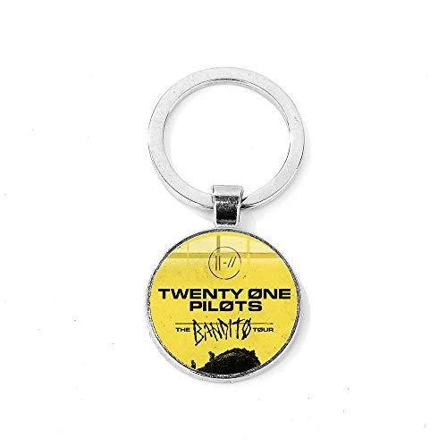 Twenty One Pilots Llavero Punk Rock Moda Banda de Música...
