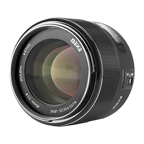 MEKE 85mm F1.8 Full Frame Auto Focus Lens for Canon EOS EF Mount Digital SLR Cameras