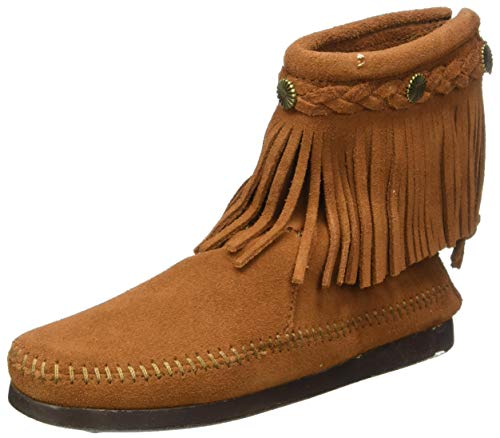 Minnetonka 292 Hi Top Back Zip Boot, Damen Stiefel, Braun (brown), EU 42, (US 11)